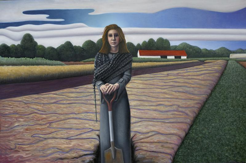 Girl with Shovel 24 x 36 Private Collection
