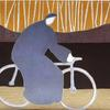 Bicycle / Homage to Milton Avery  11 x 14  gouache on paper  Collection of Jax & John Lowell