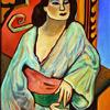 Algerian Woman   Homage to Matisse  36 x 46  Oil on Linen  Collection of Jax & John Lowell
