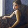 "Francesca at the Window Oil on Canvas 14"" x 11"""