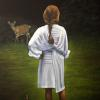 "Francesca and the Deer Oil on Canvas 24"" x 18"""