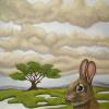 "Rabbit in Meadow 10"" x 10"""